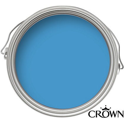 Image for Crown Feature Wall Breatheasy Peek-A-Boo Blue - Matt Paint - 40ml Tester from StoreName