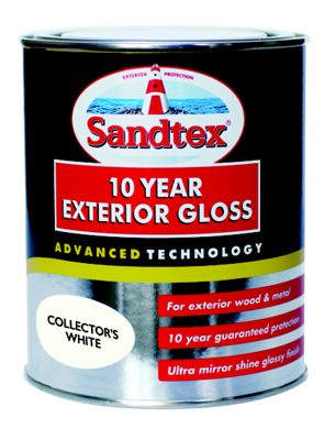 Sandtex Collectors White - Exterior Gloss Paint - 750ml