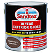 Sandtex Chestnut Brown - Exterior Gloss Paint -   2.5L