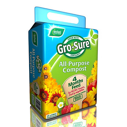 Image for Gro-Sure All Purpose Compost with 4 Months Feed - 25L from StoreName