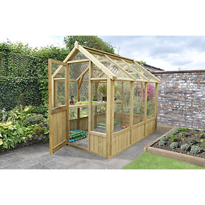 Image for Forest Wooden Greenhouse - 6x4ft from StoreName