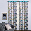 Arla Leaves Green Eyelet Curtains - 90 x 90in