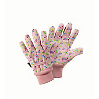 Briers Kids Birds Cotton Grip Gardening Gloves