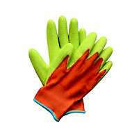 Briers Kids Junior Digger Orange and Green Gardening Gloves