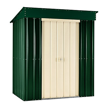 Image for Lotus Heritage Green Metal Pent Shed - 8x3ft from StoreName