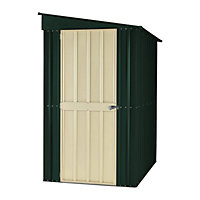 Lotus Lean To Heritage Green Metal Shed - 4x6ft