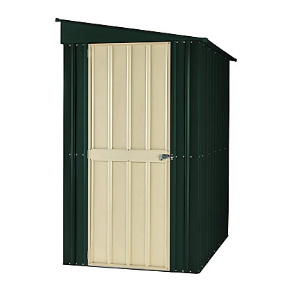 Image for Lotus Lean To Heritage Green Metal Shed - 5x8ft from StoreName