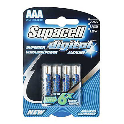 Image for Supacell Digital AAA Batteries - 4 Pack from StoreName