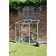 Eden Wall Garden 26 Aluminium Greenhouse with Horticultural Glass & Base - Silver