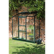 Eden Wall Garden 26 Aluminium Greenhouse with Toughened Glass & Base - Green