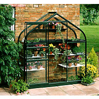 Eden Supreme Wall Garden 26 Greenhouse with Horticultural Glass - Green