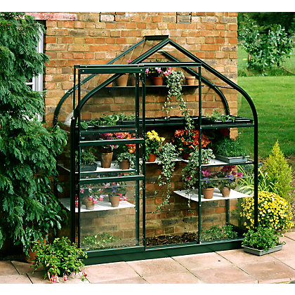 Image for Eden Supreme Wall Garden 26 Greenhouse with Toughened Glass - Green from StoreName