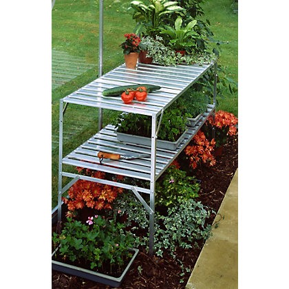 Image for Eden 2 Tier Aluminium Staging for Greenhouse from StoreName