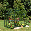 Eden Aluminium Popular Green Greenhouse with Toughened Glass & Base - 4x6ft