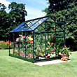Eden Aluminium Popular Green Greenhouse with Horticultural Glass & Base - 8x6ft