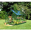 Eden Aluminium Popular Green Greenhouse with Horticultural Glass & Base - 10x6ft