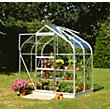 Eden Aluminium Supreme Silver Greenhouse with Horticultural Glass & Base - 4x6ft
