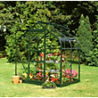 Eden Aluminium Supreme Green Greenhouse with Toughened Glass & Base - 4x6ft