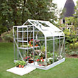 Eden Aluminium Supreme Silver Greenhouse with Horticultural Glass & Base - 6x6ft