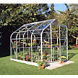 Eden Aluminium Supreme Silver Greenhouse with Toughened Glass & Base - 8x6ft