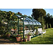 Eden Aluminium Supreme Green Greenhouse with Horticultural Glass & Base - 10x8ft