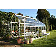 Eden Aluminium Supreme Silver Greenhouse with Horticultural Glass & Base - 12x8ft