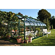 Eden Aluminium Supreme Green Greenhouse with Toughened Glass & Base - 14x8ft
