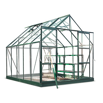 Image for Eden Aluminium Magnum Green Greenhouse with Horticultural Glass & Base - 10x8ft from StoreName