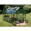 Eden Aluminium Magnum Green Greenhouse with Toughened Glass & Base - 12x8ft