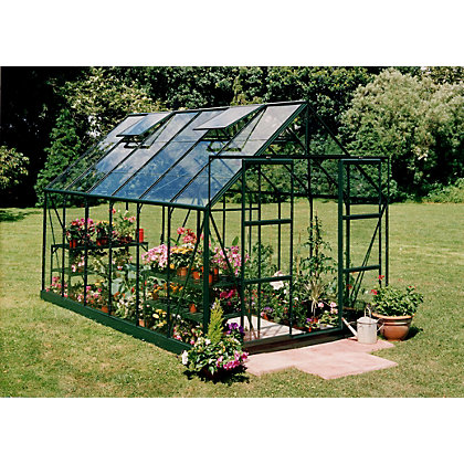 Image for Eden Aluminium Magnum Green Greenhouse with Toughened Glass & Base - 12x8ft from StoreName