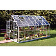 Eden Aluminium Magnum Silver Greenhouse with Horticultural Glass & Base - 14x8ft