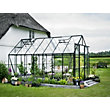 Eden Aluminium Magnum Green Greenhouse with Toughened Glass & Base - 14x8ft