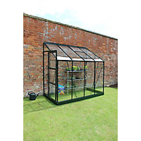 Eden Aluminium Europa 48 Greenhouse with Horticultural Glass & Base - Green