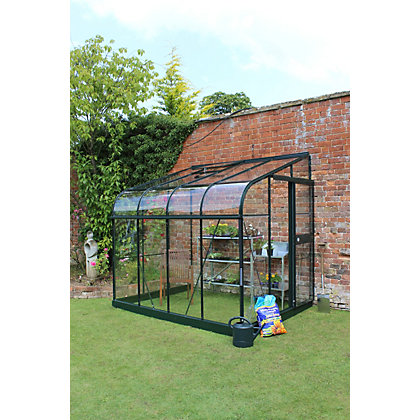 Image for Eden Silverline 68 Lean-To Greenhouse with Toughened Glass - Green from StoreName