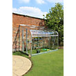 Eden Silverline 610 Lean-To Greenhouse with Toughened Glass - Silver