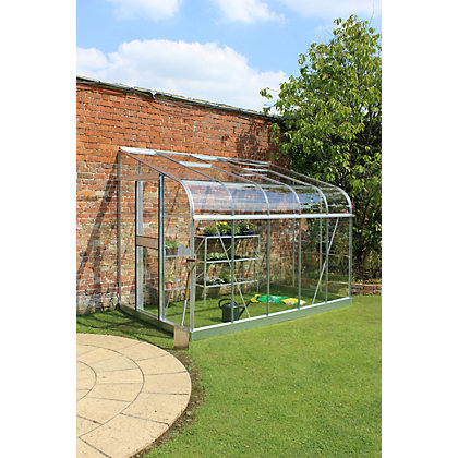 Image for Eden Silverline 610 Lean-To Greenhouse with Toughened Glass - Silver from StoreName