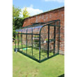Eden Silverline 610 Lean-To Greenhouse with Toughened Glass - Green