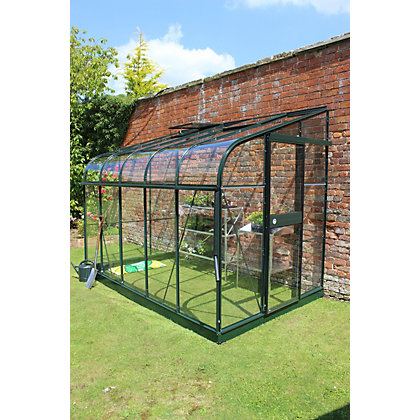 Image for Eden Silverline 610 Lean-To Greenhouse with Toughened Glass - Green from StoreName
