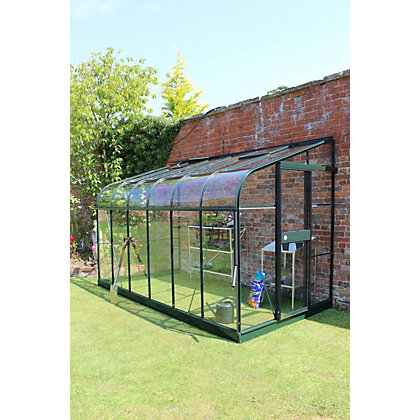 Image for Eden Silverline 612 Lean-To Greenhouse with Toughened Glass - Green from StoreName