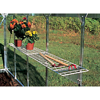 Eden Greenhouse Wire Shelf with Brackets - 25x150cm