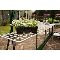 Eden Greenhouse Wire Shelf with Brackets - 50x150cm