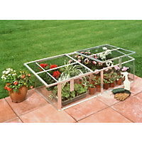 Eden Silver Cold frame with Toughened Glass - 4x2ft