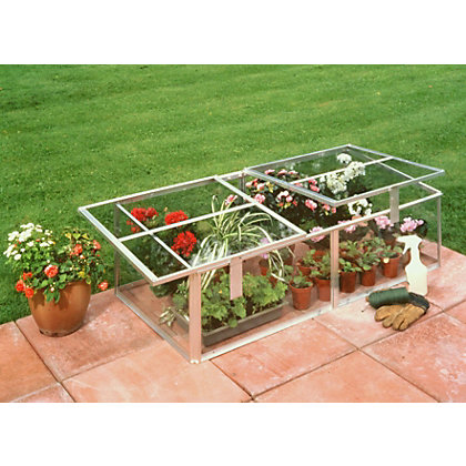 Image for Eden Silver Cold frame with Toughened Glass - 4x2ft from StoreName