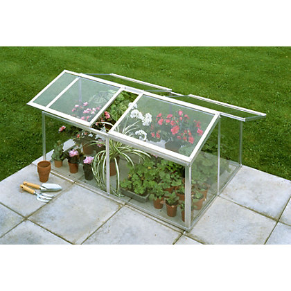 Image for Eden Jumbo Silver Cold frame with Toughened Glass - 4x3ft from StoreName