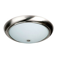Kansas Opal Flush Light - Satin Nickel