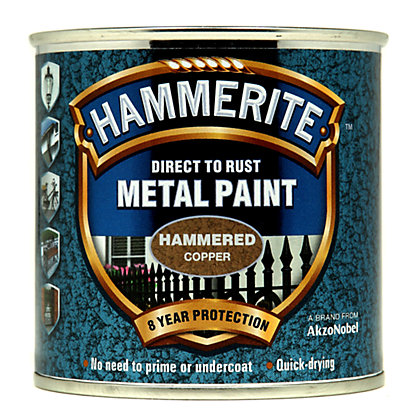Image for Hammerite Copper - Hammered Exterior Metal Paint - 250ml from StoreName