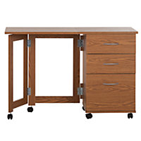 Brown Wooden Desk - Homebase