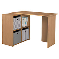 Calgary Corner Desk - Oak Effect.