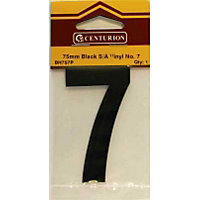 House Number Plate - Black - 7