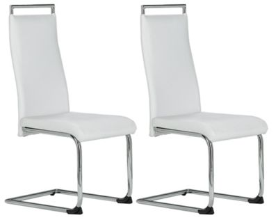 Hygena Cantilever Dining Chair - White.